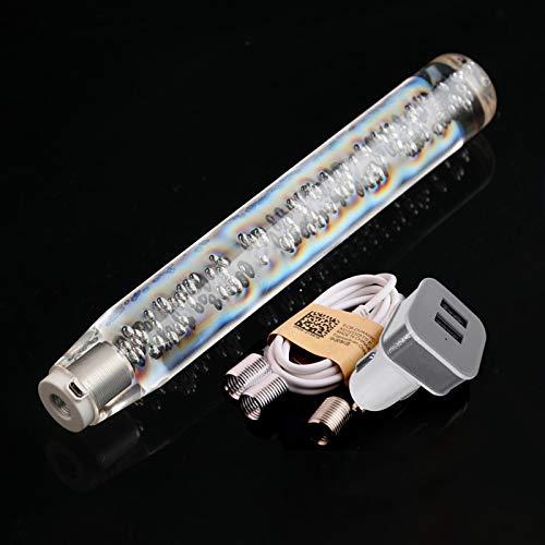 30cm / 11.8 Inch LED Light RGB Shift Knob Stick, Kecheer Crystal Transparent Bubble Gear Shifter, Multicolor Gradient Shift Knob Universal Shift Knob Stick, Bubble Design Shift Knob
