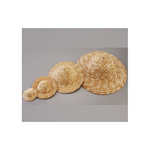 Efco Chapeau décoratif en Paille, diamètre extérieur 8,5 cm, Naturel Clair