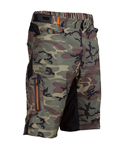 ZOIC Boy's Ether Jr. Shorts, Green Camo, Medium