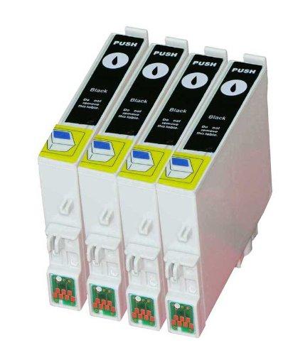 Merotoner - Juego de 4 cartuchos de tinta para T-0481, T 0481 Epson Stylus Photo R200, R210, R220, R300, R300 M, R310, R320, R340, RX300, RX500, RX600, RX620 y RX640
