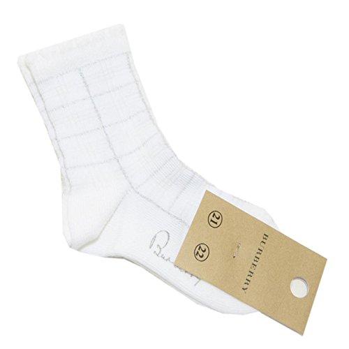 BURBERRY 5363F calzini CHECK COTONE calze accessori bimba socks kids [21-22]