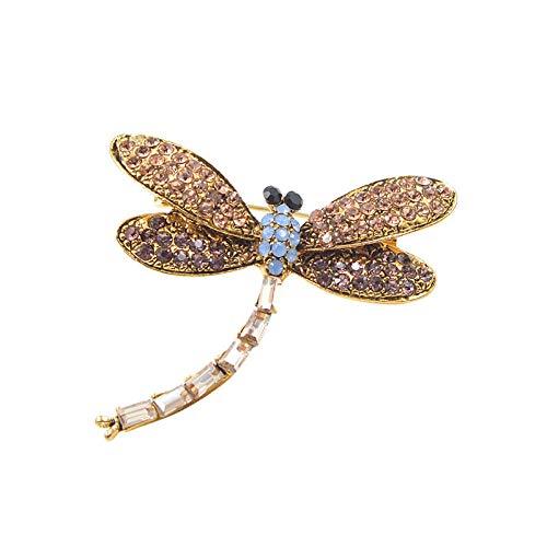 GLKHM Broche De Navidad Broches De Libélula De Moda Accesorios De Broche De Insectos