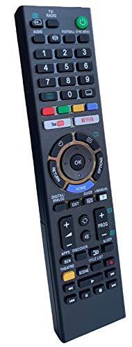 Mando a distancia universal para Sony TV, funciona con todos los televisores Sony TV/Smart TV, el mejor mando a distancia de repuesto para tu televisor Sony (Netflix de YouTube)
