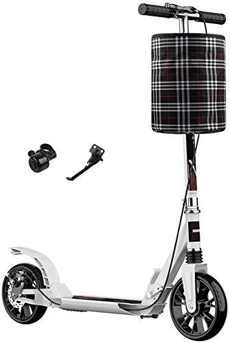 Patín Eléctrico Plegable for adultos Kick scooter con rueda grande y mano...
