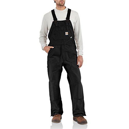 Carhartt Men's Flame Resistant Duck Bib Overall, Black, 50W x 36L