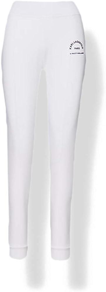 Karl lagerfeld address logo sweatpants pantaloni sportivi donna,100% cotone organico 210W1070