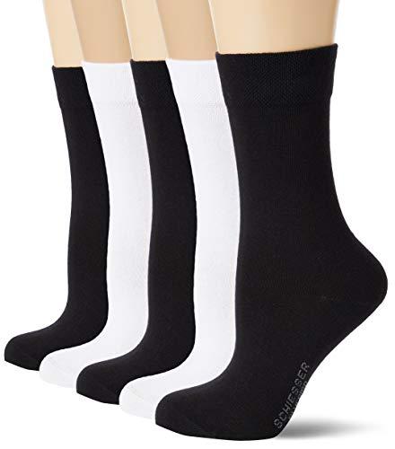 Schiesser Damen Multipack 5 Pack Damensocken Strümpfe Socken, Sortiert 4, 39/42 (5er Pack)