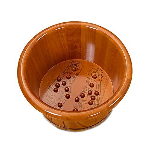 Bain de pieds Baignoire à pied Baignoire en bois massif Baignoire Pédicure Sans couvercle Seau de lavage pour les pieds Ménage 35cm de haut