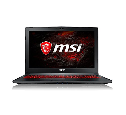 MSI GL62M 7RDX 2073UK 15.6-Inch Gaming Laptop 9S7-16J962-2073 - (Black) (Intel Core i5-7300HQ, 8 GB RAM, 256 GB SSD Plus 1 TB HDD, GeForce GTX 1050, Windows 10 Home)