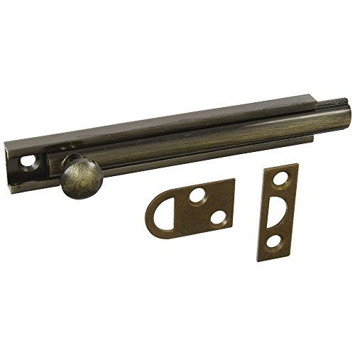 National Hardware N198-002 V1922 Flush Bolt in Antique Brass,4 Inch