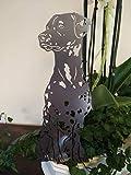 Gartendeko Fockbek Metallfigur Blumenstecker Figur Dalmatiner Höhe ca. 40 cm Metall Rostfigur Rostdeko