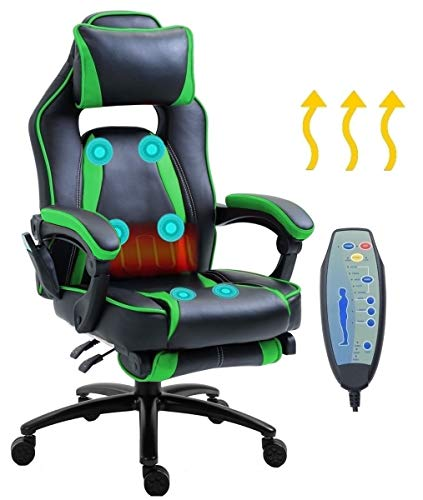 Delman Massage Gaming Stuhl Racing Stuhl Bürostuhl XXL Size Computerstuhl Wärmefunktion...