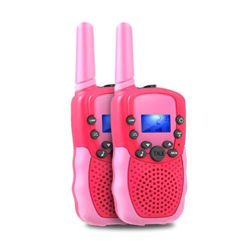 TekHome Spielzeug Mädchen 3 4 5 6 7 Jahre Walkie Talkie Kinder 3km mit Taschenlampe, Top Kindergeburtstag Mädchen 8 9 10 Jahre,...