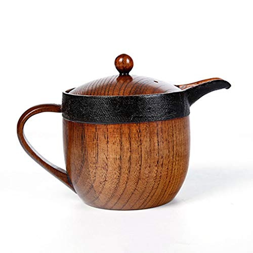 Geschirr TONGTONG SHOP Jujube Holz Wasser Tasse Teekanne Holz Tee Set Sharp Mouth Pot Holz Tasse Teekanne (Size : Caliber 10*Height 9cm)