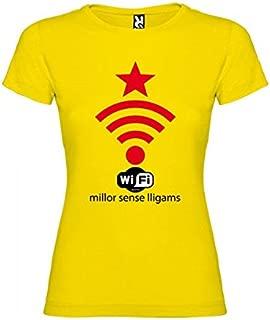 Camiseta Catalunya WiFi Independent Manga Corta Mujer