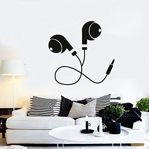 Tianpengyuanshuai muursticker voor vinyl muziekkoptelefoon