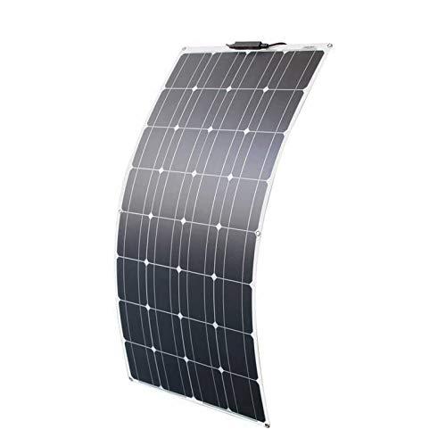 パネル ソーラー100W単結晶ソーラーチャージャー太陽光発電パネル セミフレキシブル ソーラーパネル ポータブル バッテリーソーラー充電器 (100w ソーラーパネル)