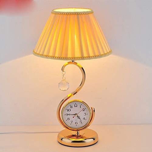 Lfixhssf Moderne minimalistische lamp voor kinderkamer bedlampje creatieve spaarlamp met klok bureaulamp verstelbaar Lfixhssf