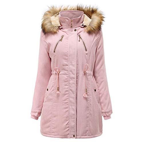 Initial dames winterjas met capuchon plus fluwelen katoenen mantel verdikte lange warme jas