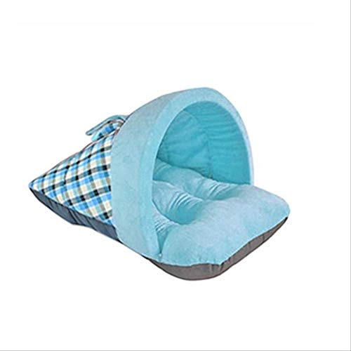 WUBS Pet Bed Cute Plaid Slipper Shaped Soft Short Plush Winter Warm Pet Nest Pet Sofa Slaapzak 2 2