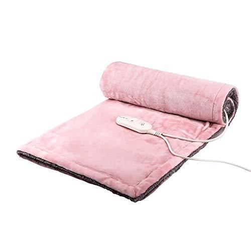 HG-HULIR Elektrische deken onder het bed, rugpijn, kniebeschermer, wasbaar, elektrisch, zeer warm en verstelbaar, geschikt voor Kerstmis, geschenken voor acties, grijs 85 × 65 cm