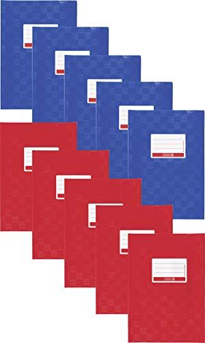 Brunnen Hefthülle/Heftumschlag (Folie, mit Namensschild) (A4 | 5x blau + 5x rot)