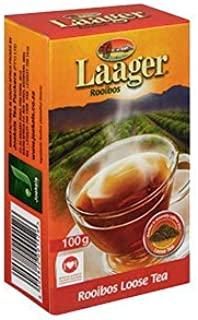 Laager Rooibos Loose Leaf Tea, 100% Natural South African Red Bush Tea, Rich in Vitamins and Antioxidants. 4 oz (100g)
