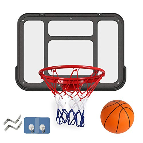 Dunk-Körbe für Kinder Schießmaschinen für den Haushalt, Basketballständer für den Innen- und Außenbereich, an der Wand befestigte Basketballbretter (mit Gummibällen, festen Federn, Körben) Du