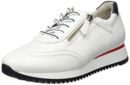 Gabor Shoes Damen Comfort Basic 46.335 Sneaker, Weiß (Weiss/Blau (Rot) 52), 38.5 EU