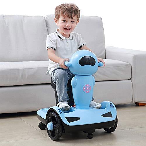 Scooter Eléctrico para Niños, Scooter De Equilibrio De Motocicleta De Tres Ruedas, Carga De 45 Kg, Adecuado para Niños De 3 A 7 Años,Azul