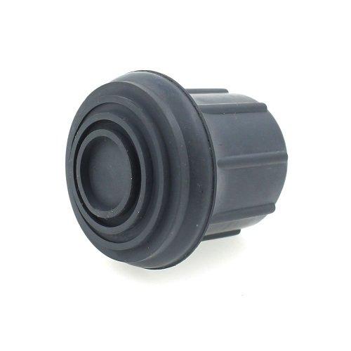 Z-Tec - Ghiera in plastica per bastone, 29 mm, colore: grigio