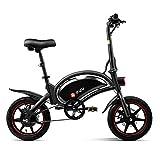 LENTIA Bicicleta eléctrica Plegable Bicicletas eléctricas Kilometraje 50 km Batería de Iones de Litio de 10Ah Velocidad máxima 25 km/h 14 Pulgadas CE Freno Frontal & Trasero D3F