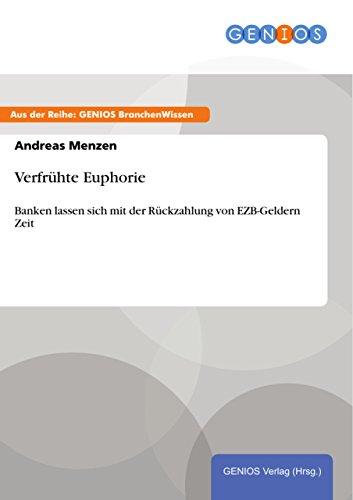 Verfrühte Euphorie: Banken lassen sich mit der Rückzahlung von EZB-Geldern Zeit