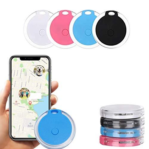 4 Pack Smart Bluetooth Tracker & Bluetooth Key Finder, Wireless Key Finder RF Item Locator, Key Tracker Wallet Finder, Pet Tracker, Anti-Lost Smart Item Tracker Key Finder Keyring for iOS Android