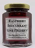 Conservas de conservas de frambuesa, grosella roja y rosa, 220 g