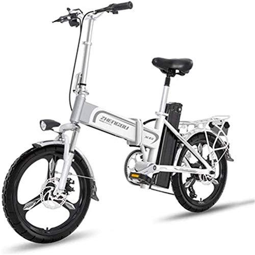 LOPP Ebike Elektrofahrrad, leichtes Elektrofahrrad 16-Zoll-Räder mit Pedalen, tragbares Ebike 400W elektrisch unterstütztes Aluminium, Höchstgeschwindigkeit bis 25 m