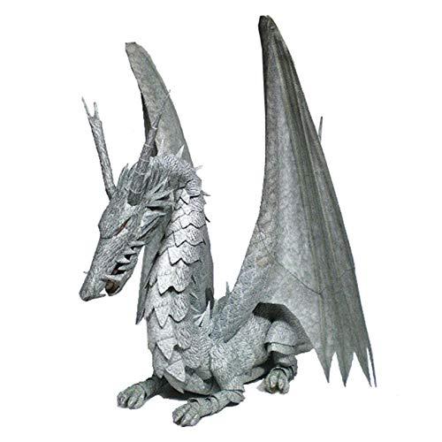WLL-DP Flying Dragon 3D Escultura De Papel Juguete De Papel Artesanía De Papel Precortado DIY Geométrico Origami Puzzle Adornos Hecho A Mano Modelo De Papel Animal Decoración del Hogar