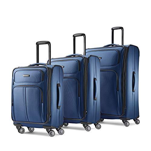 Samsonite Leverage LTE Softside Expandable Luggage with Spinner Wheels, Poseidon Blue, 3-Piece Set (20/25/29)