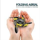 HXYL Drone avec caméra pour Adultes, Photographie aérienne caméra aérienne, Petit quadricoptère Pliant télécommandé,Yellow