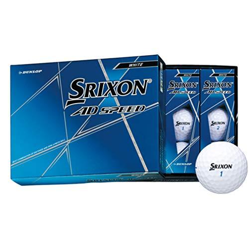 Dunlop Thrickson AD Speed Golf Balls 2020 Model 1 Dozen (12 Pack) White
