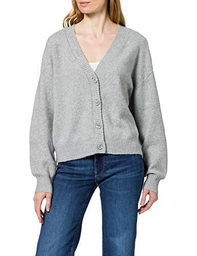 Vero Moda VMDOFFY LS V-Neck Button Cardigan LCS Suéter, Gris Claro, XS para Mujer
