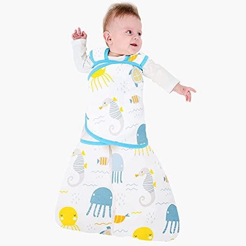 Manta de verano para bebé, saco de dormir de dibujos animados para niñas y niños recién nacidos de algodón de 0 a 12 m, medusas, 0 a 6 m