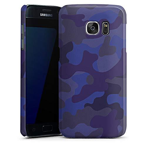 DeinDesign Premium Case Glänzend kompatibel mit Samsung Galaxy S7 Hülle Handyhülle Camouflage Bundeswehr Men Style