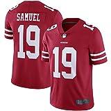 Deebo Samuel Fútbol San Deportes Camisetas Francisco Player 49ers Blanco/escarlata/Negro Jersey personalizado # 19 cifrado y tejido tejido Jersey