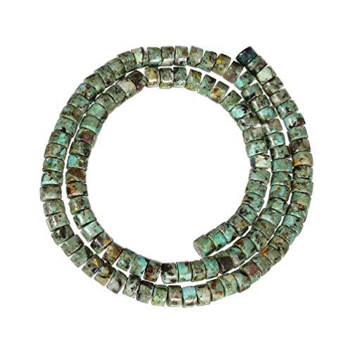 MILISTEN 110 Piezas de Cuentas Sueltas Cuentas Espaciadoras de Piedra Natural Cuentas de Joyería Diy Cuentas de Rueda Abalorios para Collar Pulseras Perlas de Turquesa