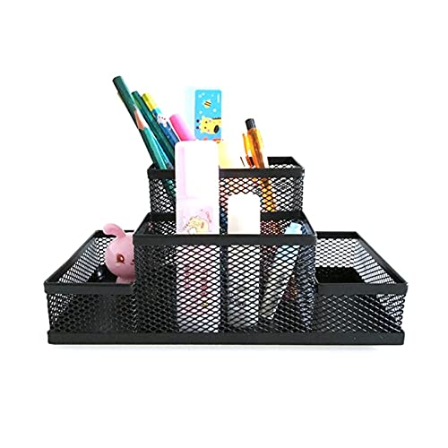 Titular De La Pluma El acoplamiento negro del cubo del metal del soporte del sostenedor Combinación Accesorios de escritorio de escritorio de escritorio Organizador Oficina lápiz de la pluma Material