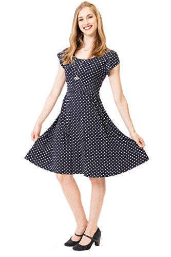 GoFuture Damen Umstandskleid Stillkleid 3in1 ALLIZEE GF2430XB5 in Marine mit weißen Punkten Gr. 42
