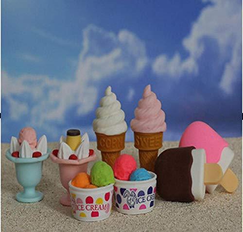 Radiergummis Gummi Eis Eis Rasierte Eis Salat Milchshake Gummi Student Briefpapier 50 Stück