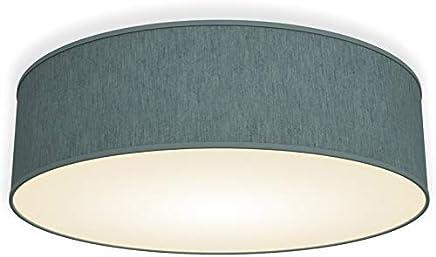 B.K.Licht Deckenleuchte 40cm petrol-grau 3-flammig Deckenlampe rund Stoff Deckenlampe Deckenstrahler Lampe