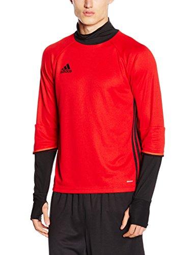 adidas Con16 TRG Camiseta, Hombre, Rojo (Escarl/Negro), S